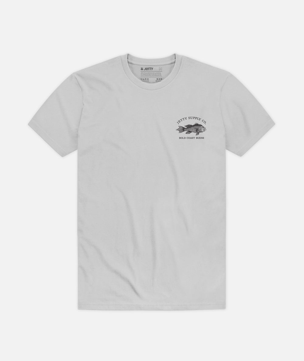 Bold Coast Burns Tee - Grey