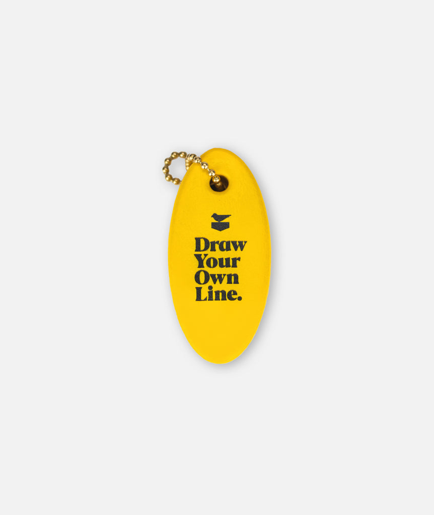 Fastwater Boat Float Keychain - Yellow