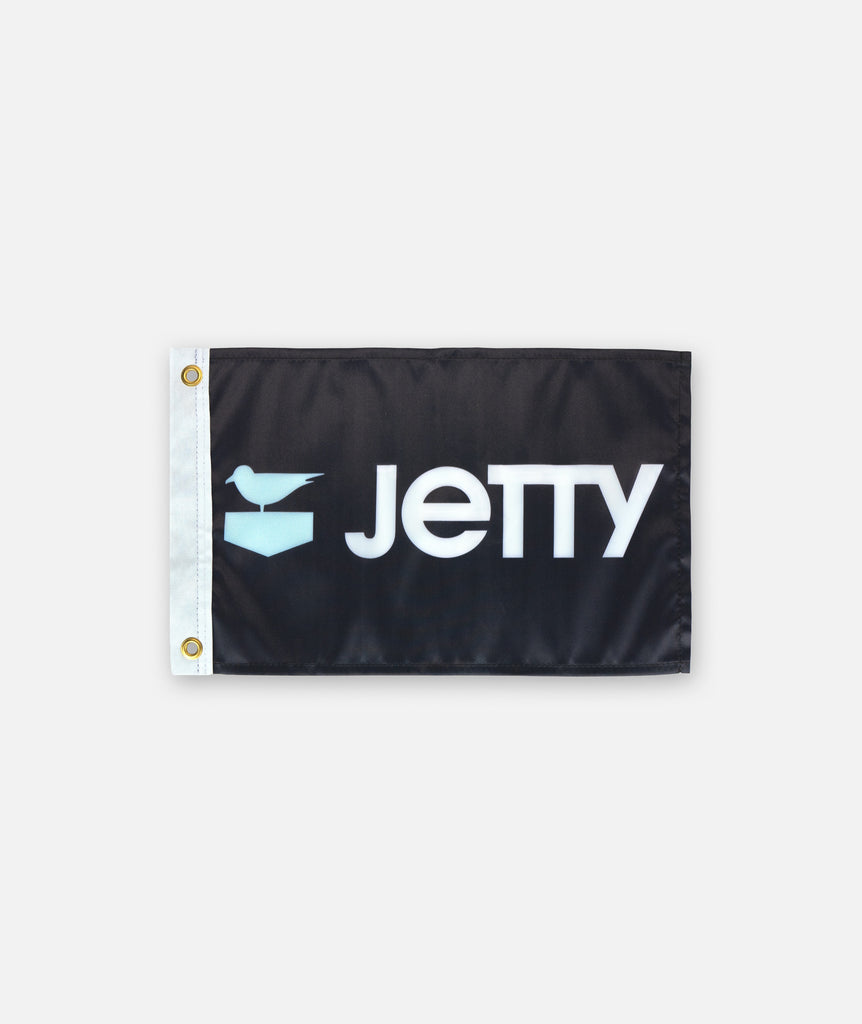 Logo Boat Flag - Black