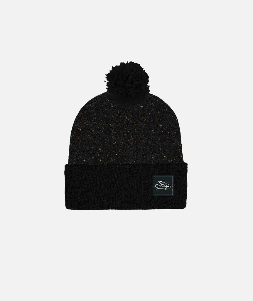 Jetty - Abell Beanie - Black Speckle