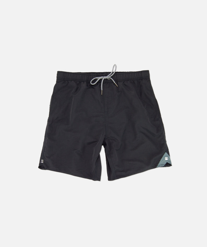 "Jetty - Bowery 17"" Volley Shorts - Black"