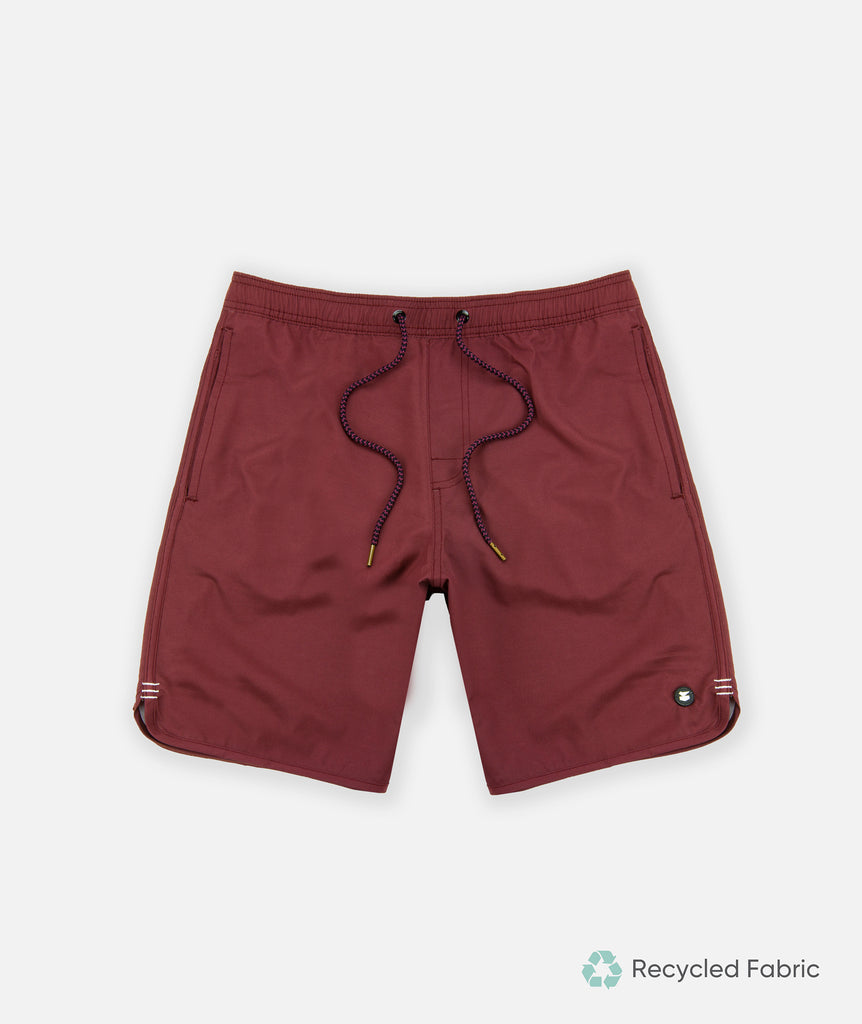Jetty - Volley Shorts - Burgundy