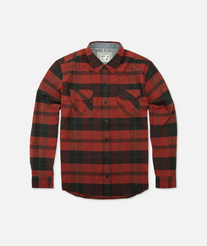 Jetty - Marshender Flannel - Burgundy