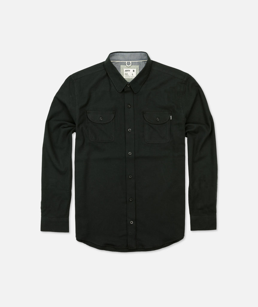 Stroke Flannel - Black