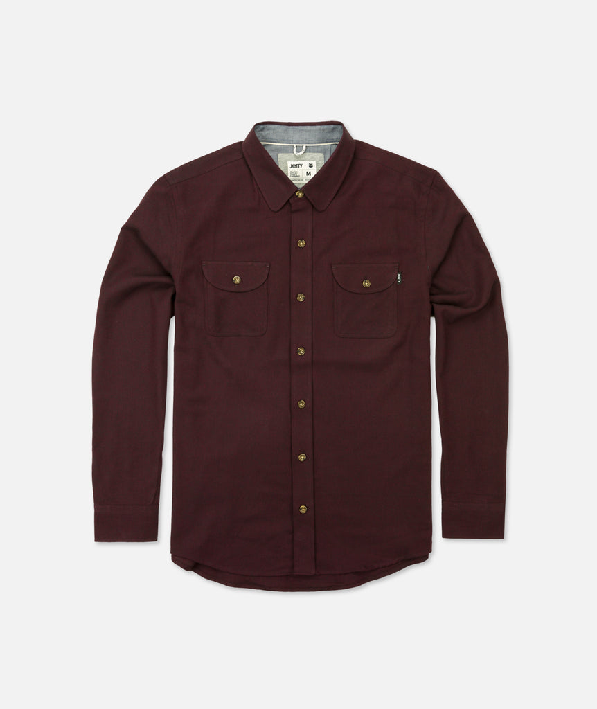 Jetty - Stroke Flannel - Burgundy