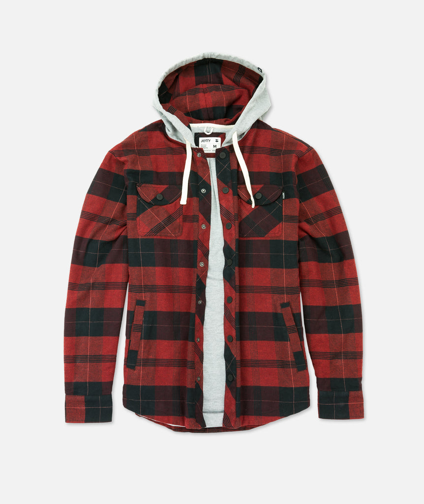 Marshender Hooded Flannel - Red