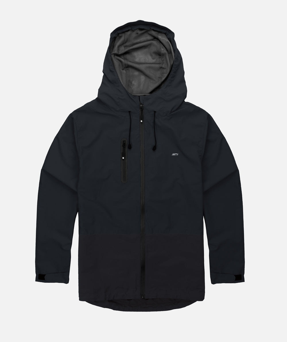 Jetty - Clam Shell Jacket- Black