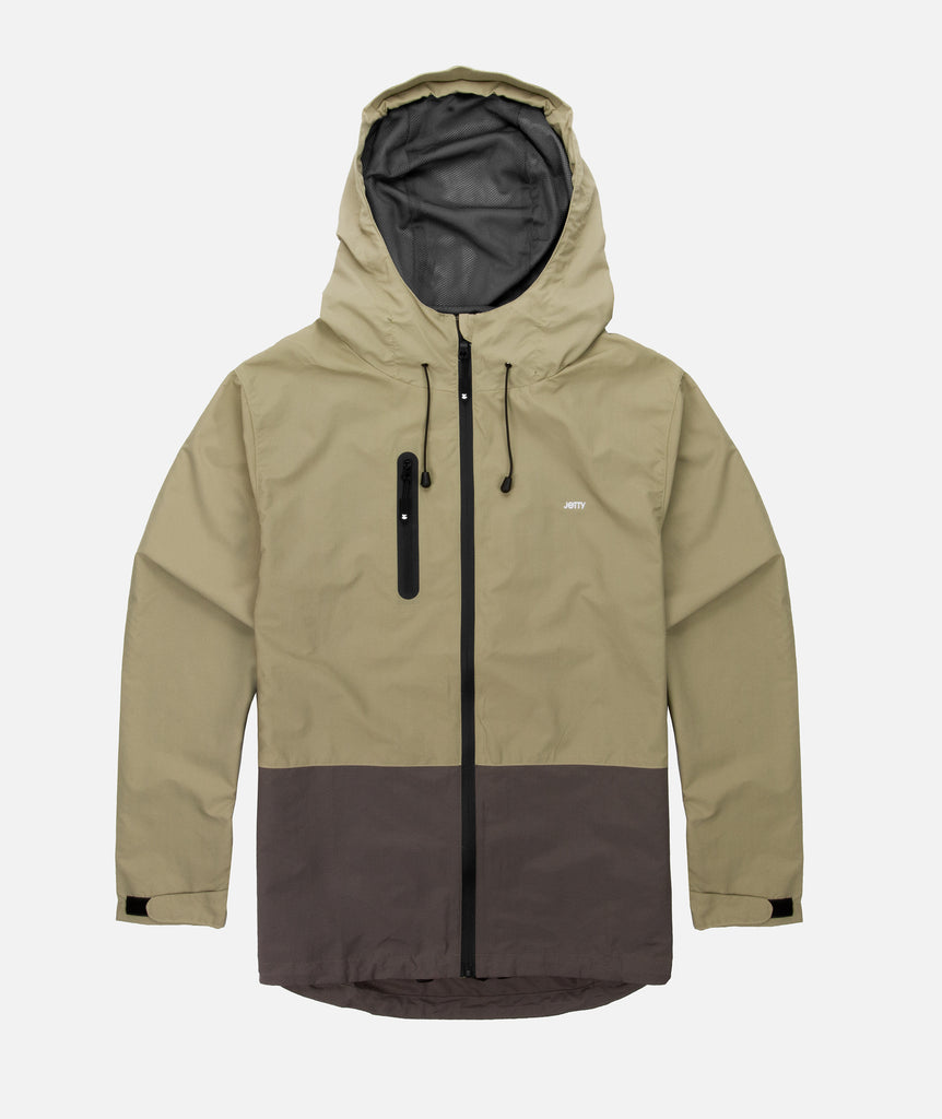 Jetty - Clam Shell Jacket- Khaki