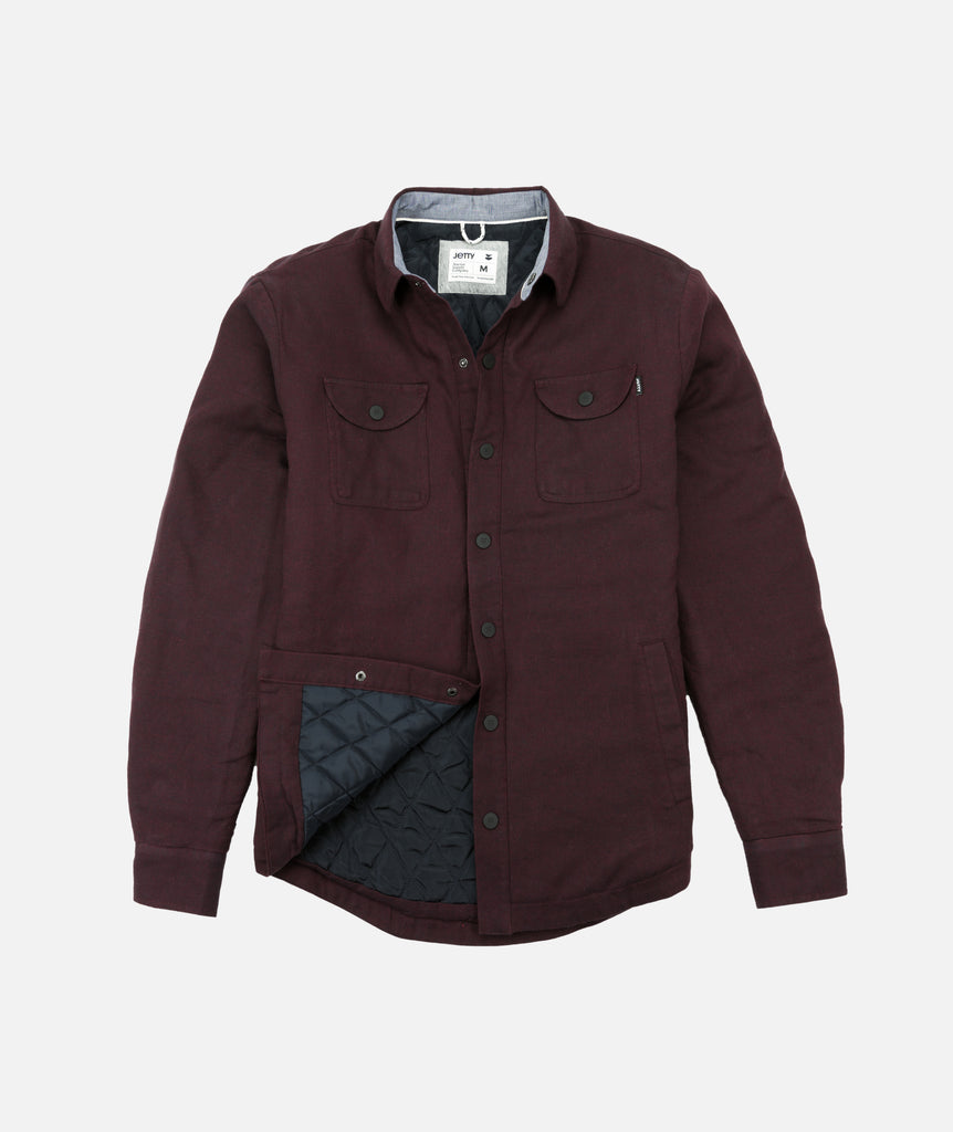 Stroke Quilted Jacket - Burgundy