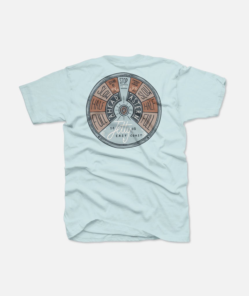 Jetty - Throttle Tee - Light Blue