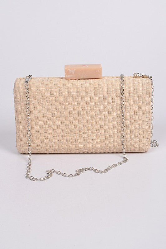 Seaside Straw Clutch