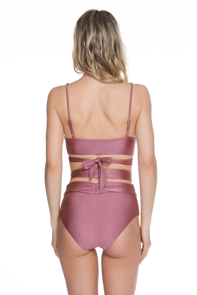Ballerina Banded High Waist Bottom, Becca - Iridescent Swimwear Boutique | Toronto, Canada