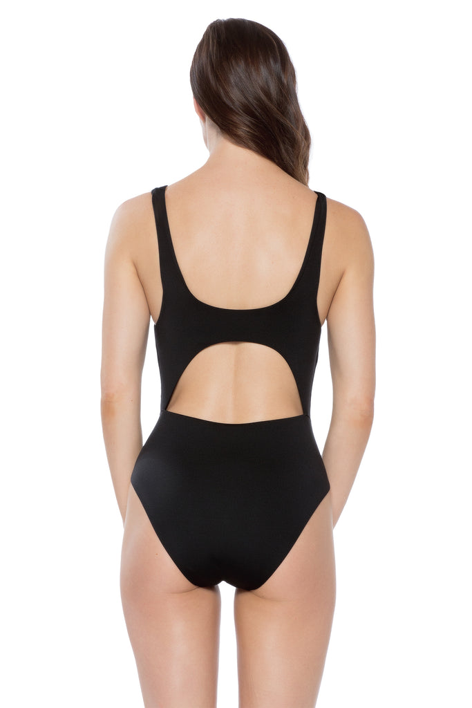 Wrap Tie Waist One-Piece