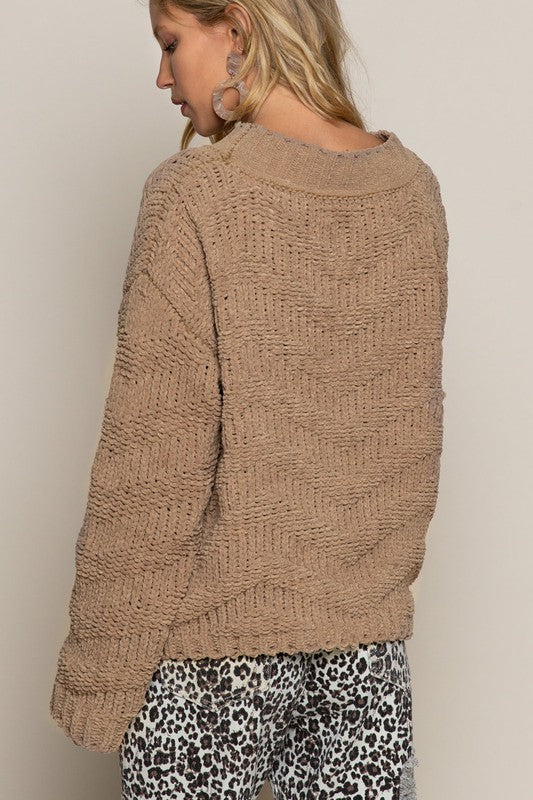 Whispers Chenille Knit Sweater