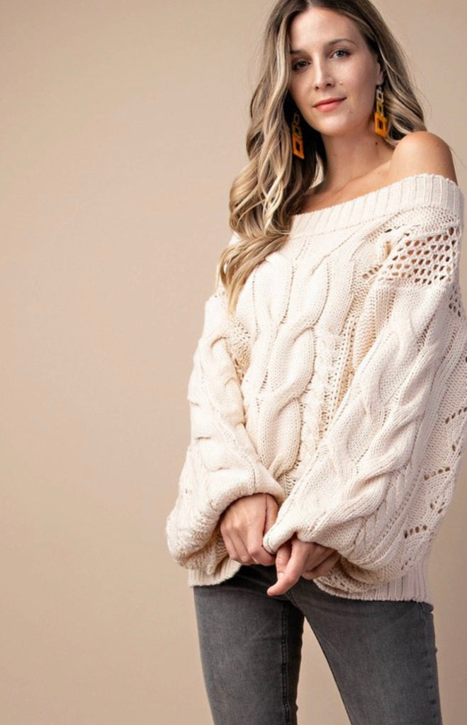 Carina Cable-Knit Sweater