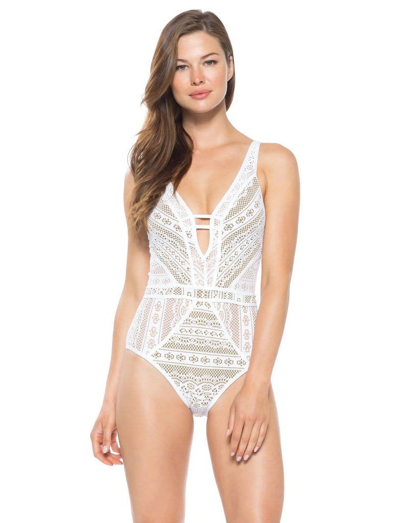 Colour Play One Piece Plunge - Iridescent Swimwear Boutique
