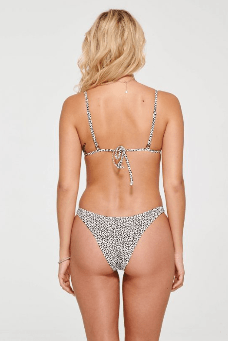 Dot Triangle Top with Bow - Iridescent Swimwear Boutique