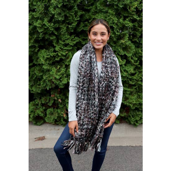 Midnight Fringe Scarf