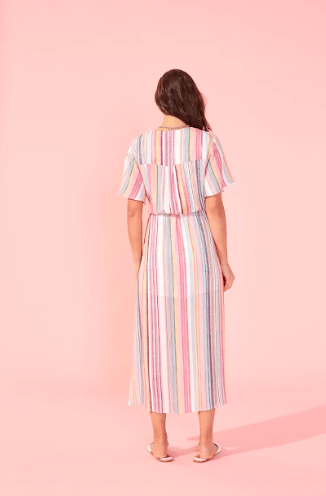 Kita Stripe Midi Dress