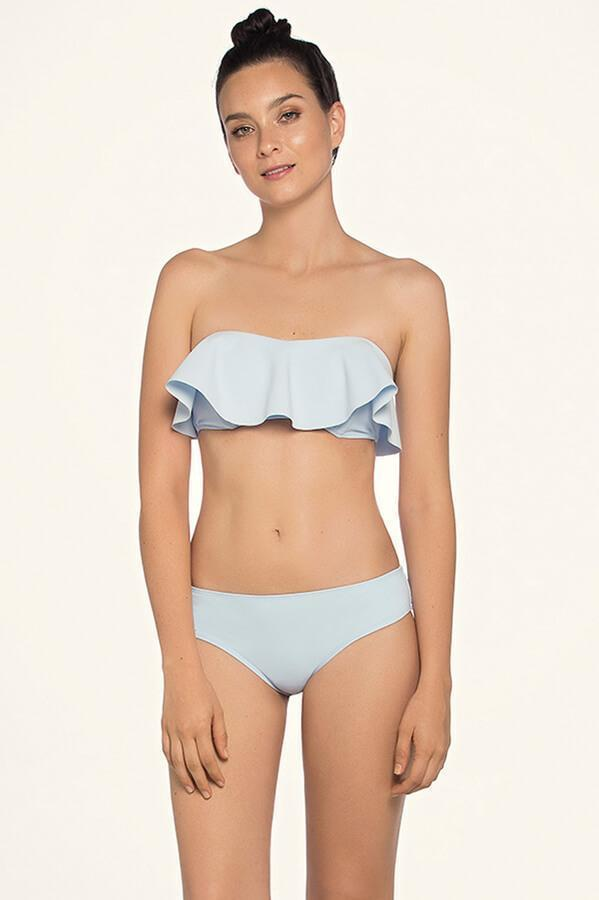 Azure Ruffle Bandeau Top - Iridescent Swimwear Boutique