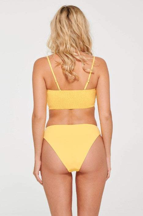 Yellow Smocked Swim Tube Top