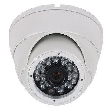 ECO LITE HD 1080P TVI DAY NIGHT WEATHERPROOF IR FIXED LENS DOME CAMERA WHITE