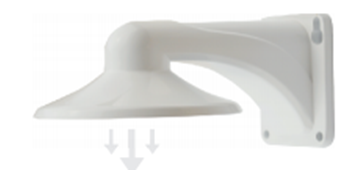 WHITE WALL MOUNT BRACKET FOR ISI-DVRT-3MPW