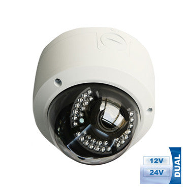 MOTORIZED LENS HD 1080P TVI DUAL VOLTAGE DAY NIGHT WEATHERPROOF IR VARI-FOCAL LENS VANDAL PROOF DOME CAMERA-HIGH BASE