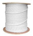 500 FT. WHITE PROFESSIONAL GRADE SIAMESE RG59/U 95% BRAID 18/2 CABLE