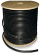 500 FT. BLACK PROFESSIONAL GRADE SIAMESE RG59/U 95% BRAID 18/2 CABLE
