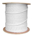 1000 FT. WHITE PROFESSIONAL GRADE SIAMESE RG59/U 95% BRAID 18/2 CABLE