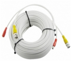 50 FT. PREMADE RG59 & POWER CABLE COMBO WHITE COLOR CCTV CABLE