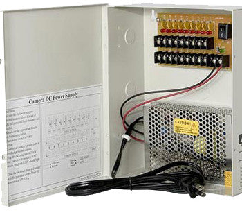 12VDC/10AMPS 18 PORTS PTC OUTPUT CCTV DISTRIBUTED POWER SUPPLY BOX