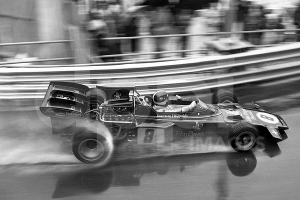 "Riding in the rain  <br><span style=""font-size: 14px"">GP F1 Monaco 1972 </span>"