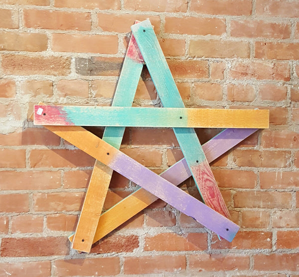 Handmade Reclaimed Barn Corral board Christmas Star