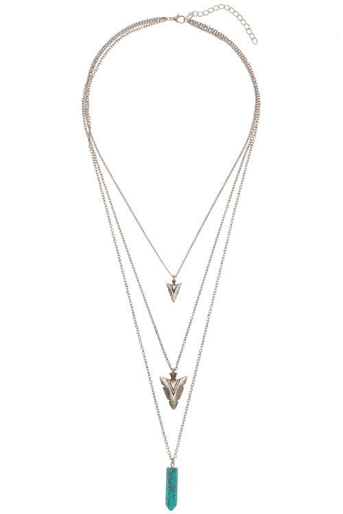 Arrow Head Long Necklace