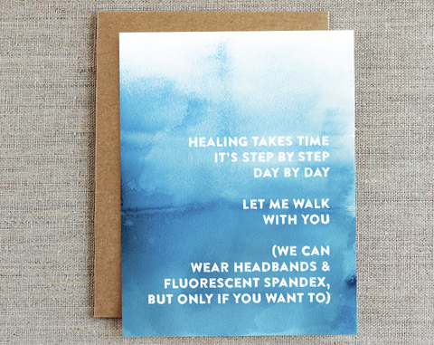 Healing Takes Time/ Compassion Card