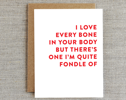 Fondle bone/ Love Card