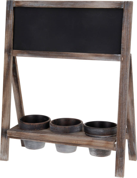 Chalk Board Tripple Pot Display