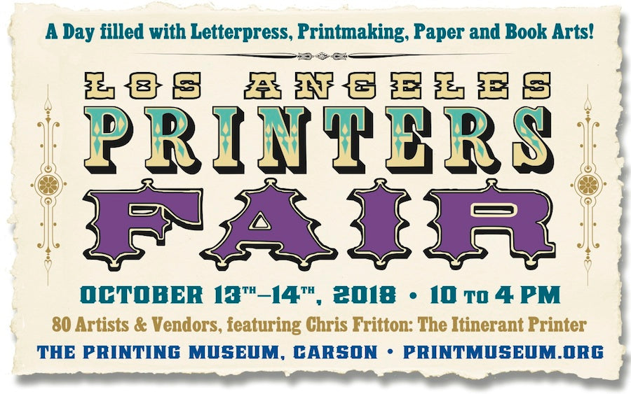 Art Mina pop-up Holiday Season Tours 2018, Day 1st at Los Angels Printers Fair!