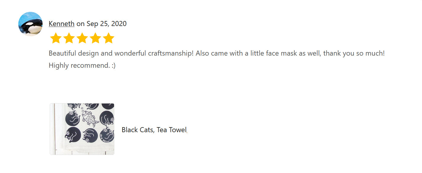 The review of Art Mina Black Cat Tea Towel