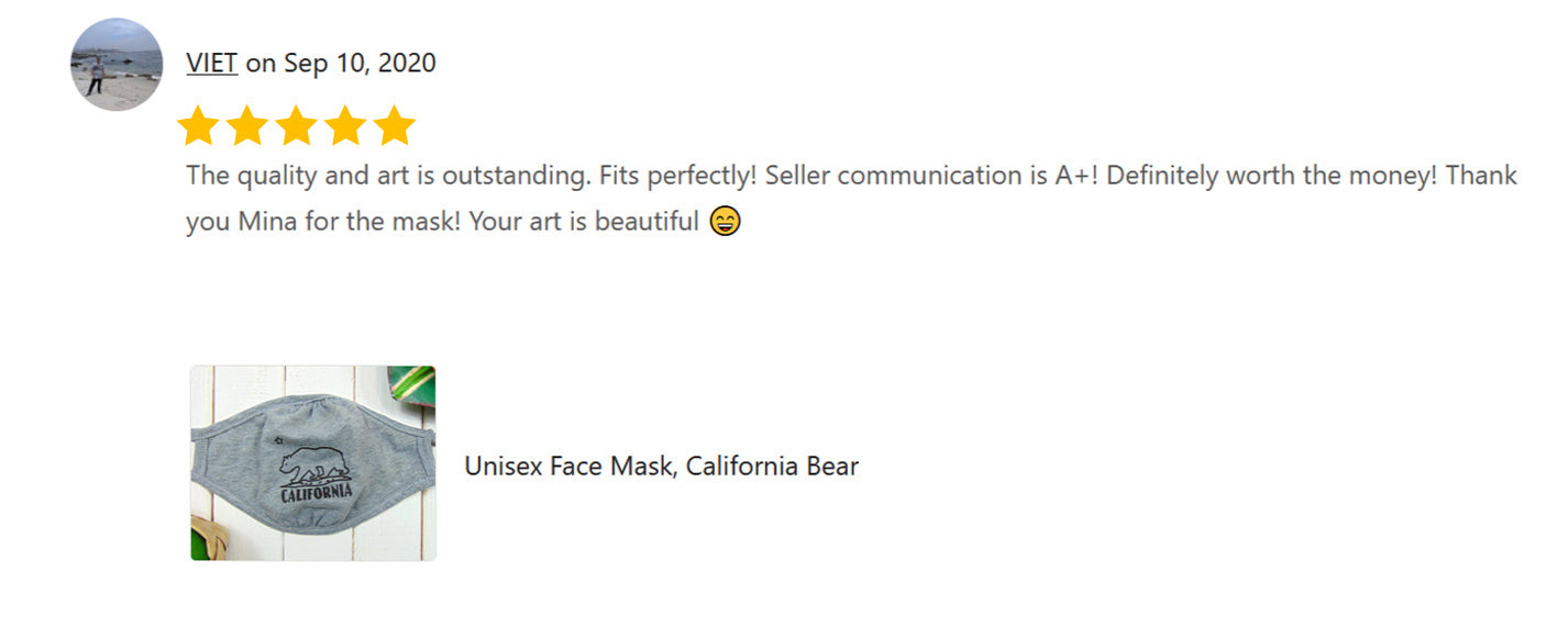 "A Review of Art Mina Face Mask ""California Bear"""