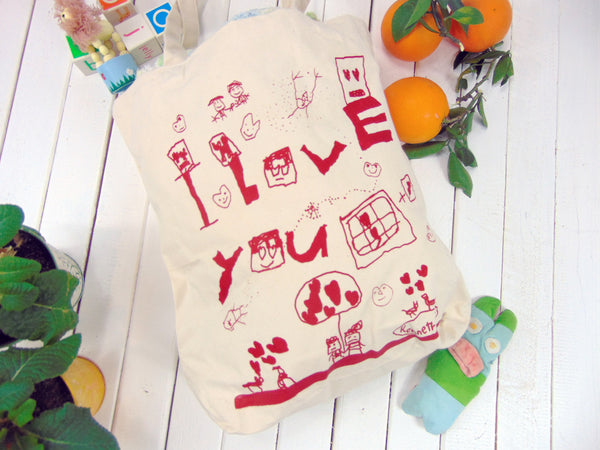 Kids Drawing Canvas Tote bag