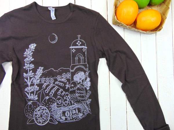 "A Photo of Art Mina Women's Soft Long Sleeve Shirt ""Ojai California"""