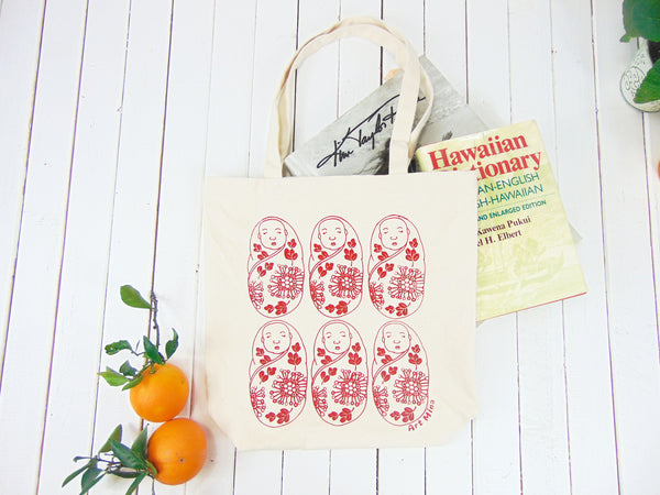 "Canvas Tote Bag ""Lehua&Ohia's Baby"""