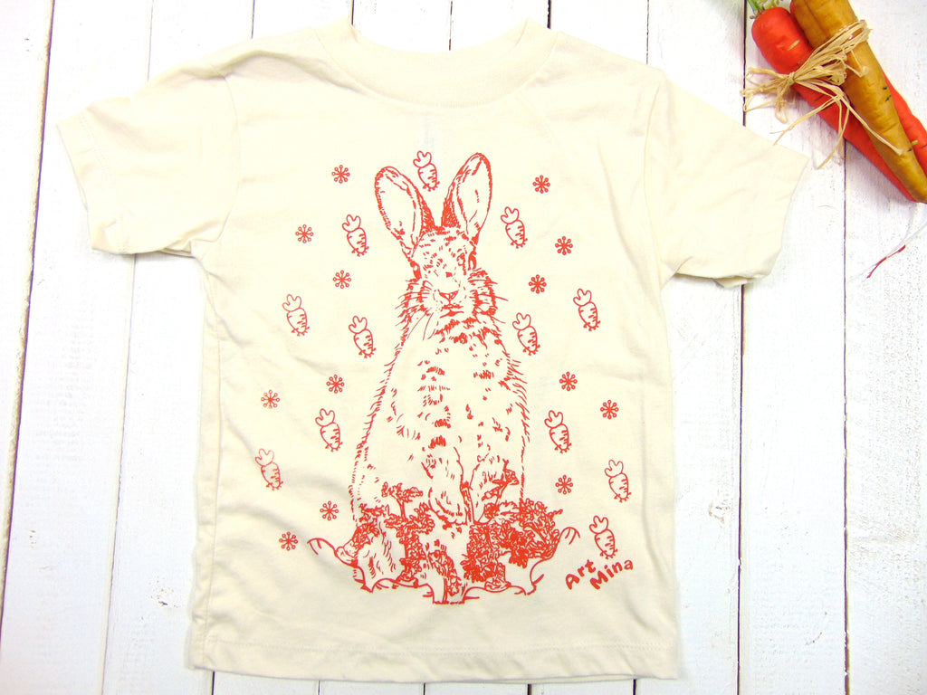 "Art Mina Toddler & Youth Tee ""Carrot Bunny"""