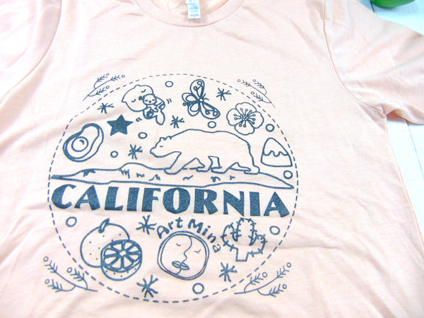 Art Mina California Bear Unisex Soft T-shirt