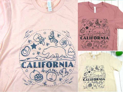 Art Mina California Bear Super Soft T-shirt