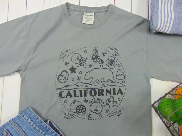 "American Grown Cotton Unisex Tee ""California Bear"" [FREE SHIPPING]"