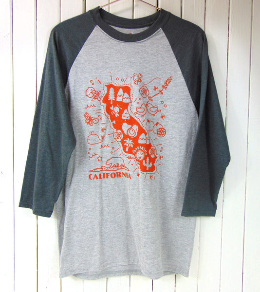 California Map Screen Print Tee